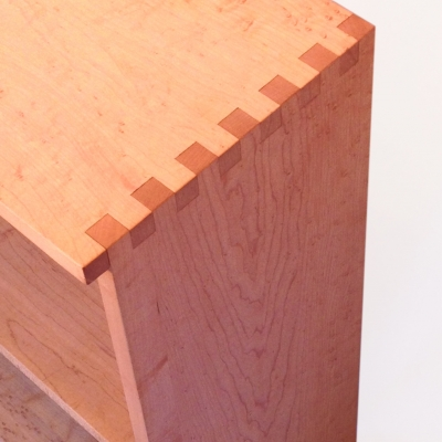 The finger joint makes a nice contrast in this Maple bookcase