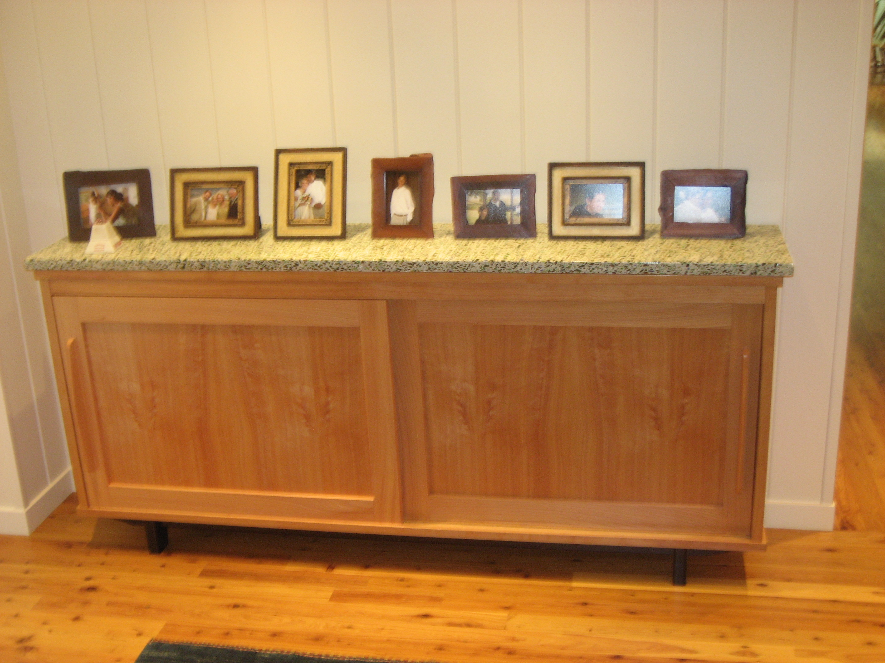 Low Sideboard Sliding Doors Wood Furniture Cabinetry And Tables