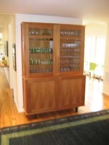tall sideboard glass doors