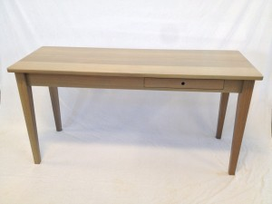 white oak kitchen work table