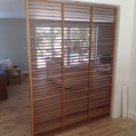 white oak room divider screen