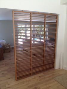 white oak room divider screen