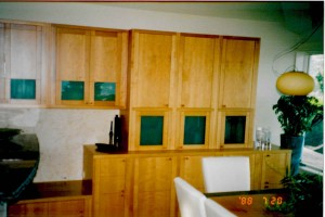 pear wood dining room cabinets