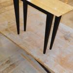 ash sofa table black base