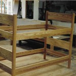 ash bunk bed with inlay