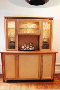 ash sideboard with lights glass doors