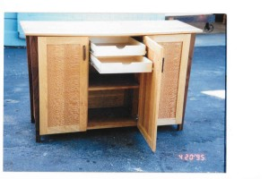 cherry lacewood cabinet