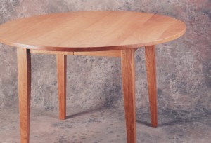 round cherry Shaker Style dining table