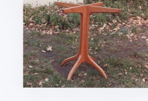 cherry wood table base