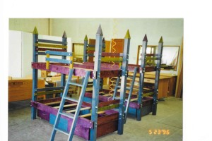 colorful bunk beds