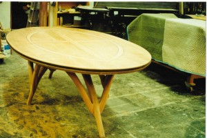cherry oval table