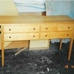 shaker style cherry table with drawers