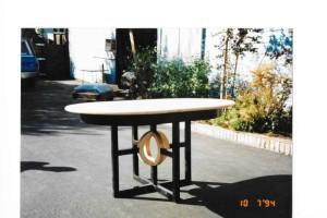 maple round table