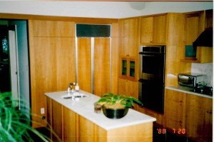pear wood kitchen cabinets