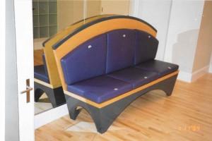 purple sofa maple