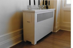 radiator cover white lacquer