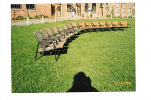 redwood outdoor chair