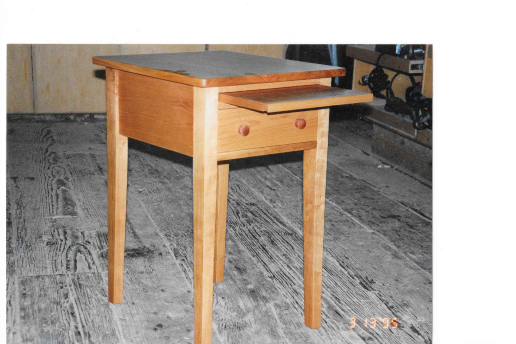 Side Table with pull out tray and drawer