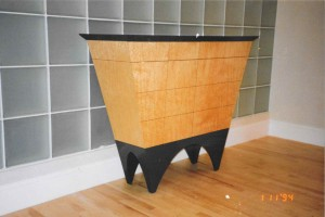 maple storage cabinet
