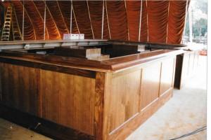 walnut bar